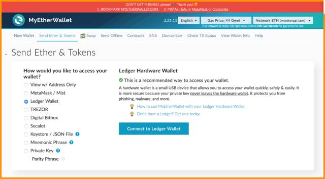 Send ERC20 Tokens On A Ledger Nano S