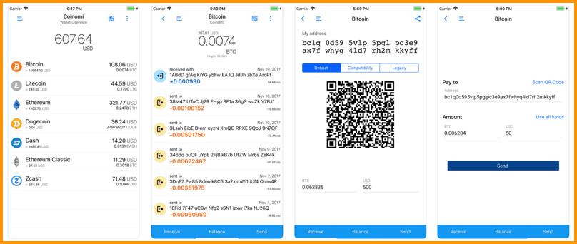 Download Coinomi's iOS App