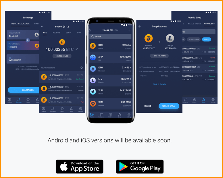 Atomic wallet Supported platforms