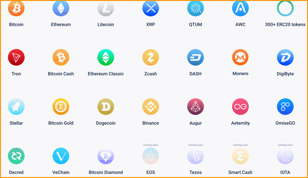 Atomic wallet Supported Currencies