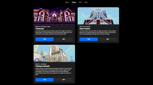 Casinos on Decentral Games