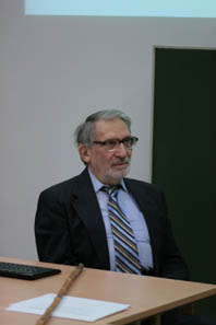 Professor Ted Buttrey in a seminar in Vienna