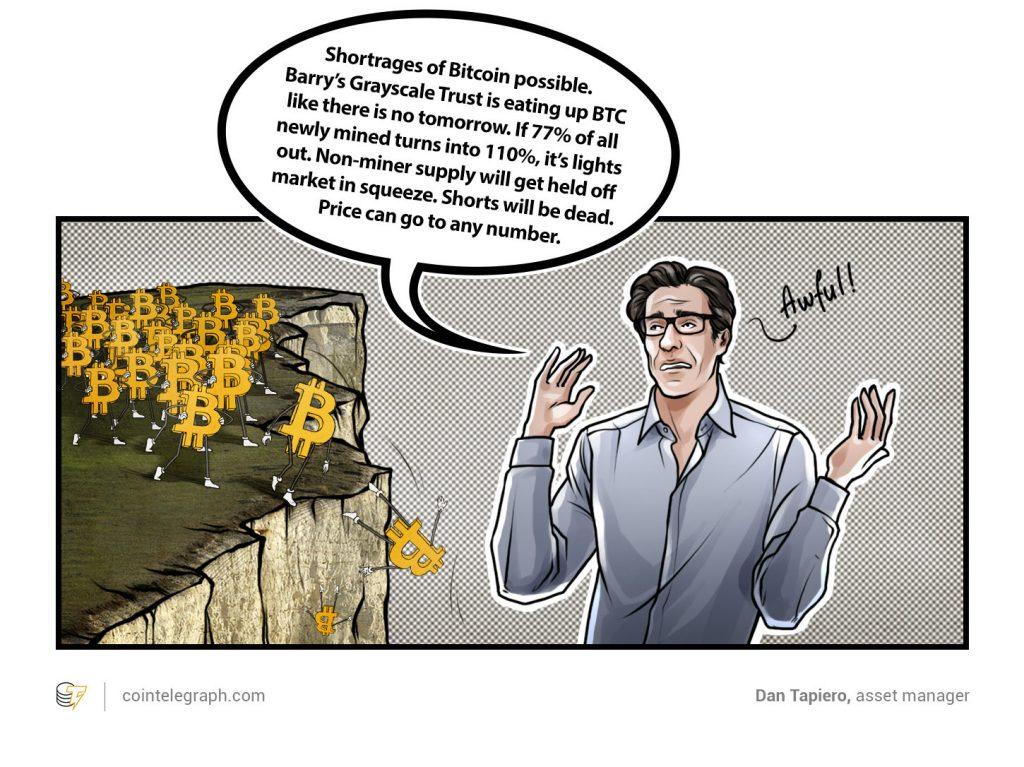 Bitcoin may fall upwards