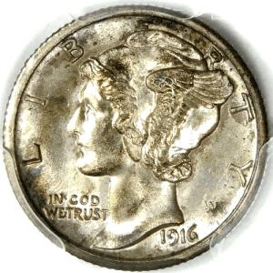 1916 S Mercury Dime