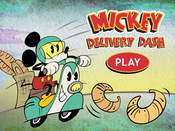 playgame walt disney partnership game mickey delivery dash