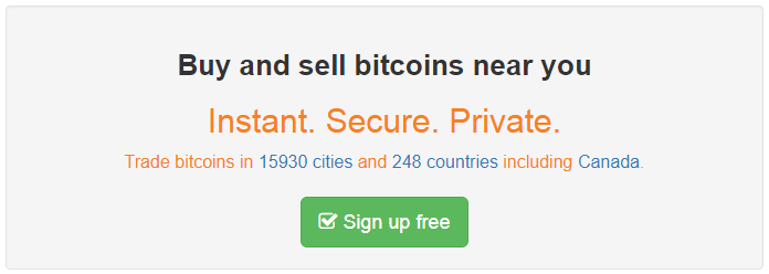 localbitcoins sign up