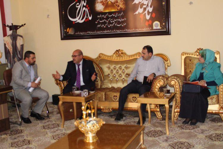 لجنة وزارية مكلفة بتدقيق مشاريع استحداث الاقسام الجديدة تزور كلية العلوم الاسلامية