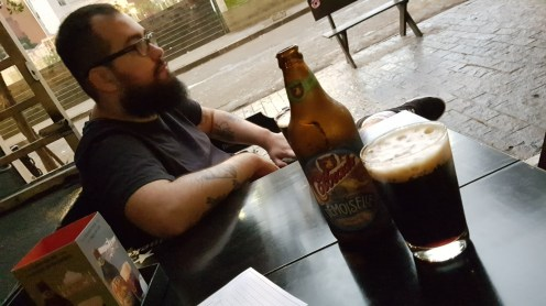 Cerveja após as filmagens