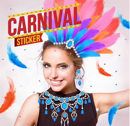 candid camera sticker carnaval