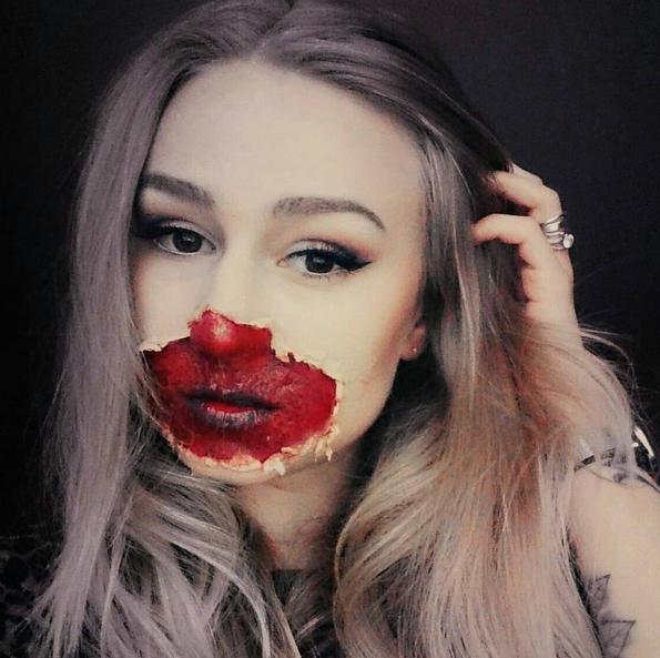 halloweeh candy camera selfie effect