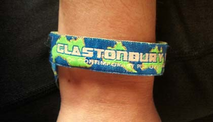 Pulseira do Glastonbury 2013 - Capa