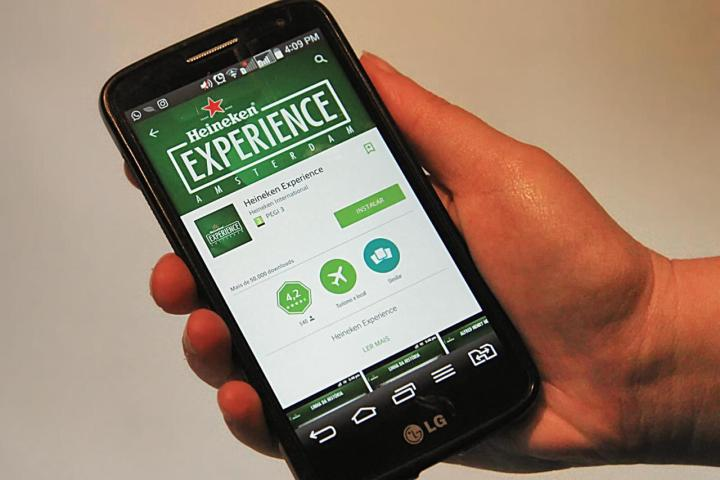 O app Heineken Experience Amsterdam exibido na Google Play Store