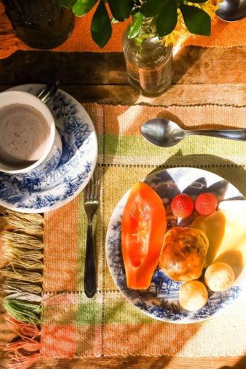 Onde ficar em São Bento do Sapucaí - Café da manhã Pousada Refúgio Mantiqueira