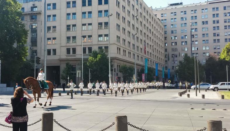 O que fazer em Santiago - Troca da guarda do Palácio de la Moneda