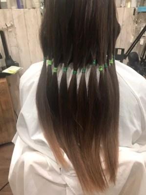【大阪 今里】ジュエリーシステムトリートメント×インナーカラーを入れた外国人風白髪染め