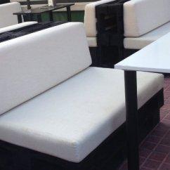 Color Sofa Red Arm Covers Cojín De Palet Asiento Exterior Medida Estándar 120x80 ...