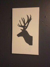 Silhouette Painted Wall Art Tutorial  SIMPLE AND CHEAP ...