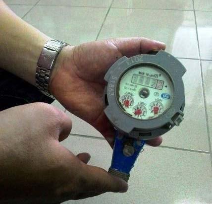 Đồng hồ nước của gia đình anh Khánh