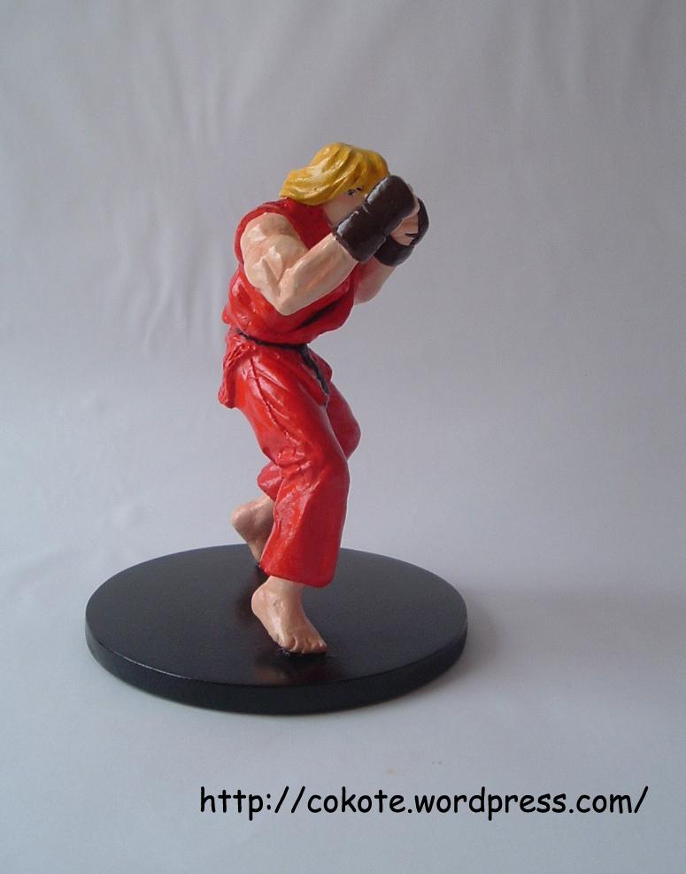 Ken de Street Fighter 2, figura de pasta para modelar das (1/5)