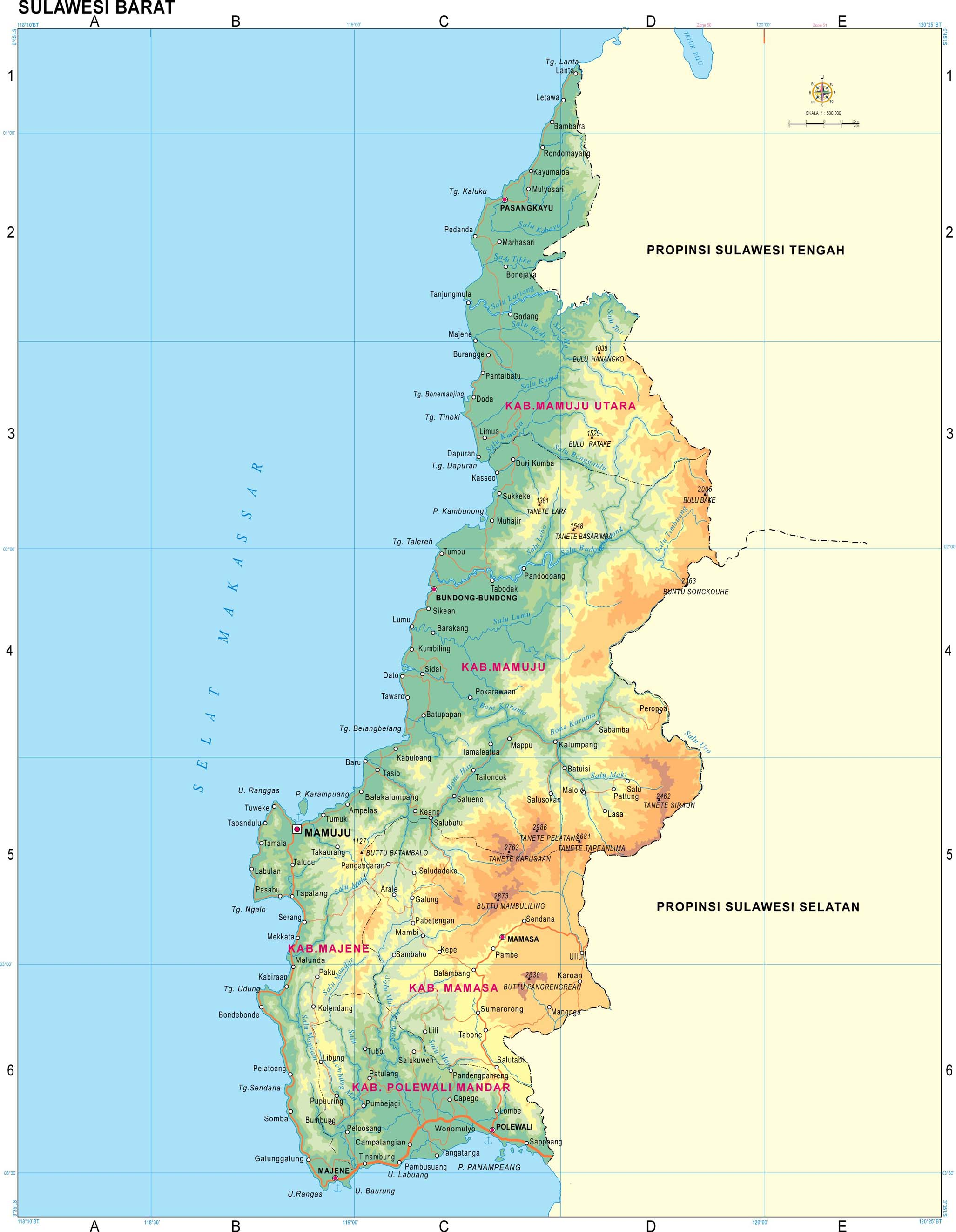 Download Map of 33 Provinces in Indonesia  COKY