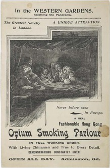 brochure; pamphlet - Opium Smoking Parlour