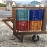 コンテナ4つ運搬車DIY(タケノコ・竹の手押し車)