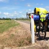 自転車旅行者の防水バッグ。4つのオルトリーブ、パニアバック