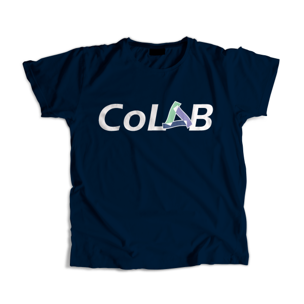 navy blue female colab t-shirt