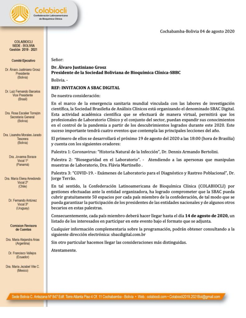 Invitación a SBAC DIGITAL