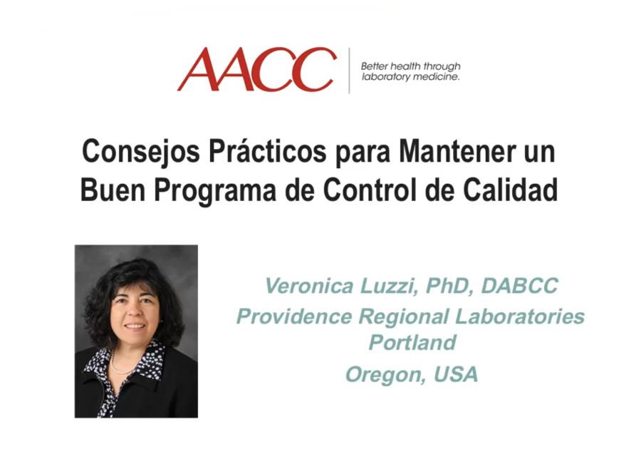 Webinar - Consejos Prácticos para Mantener un Buen Programa de Control de Calidad