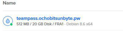 VPS creado con Debian Jessie