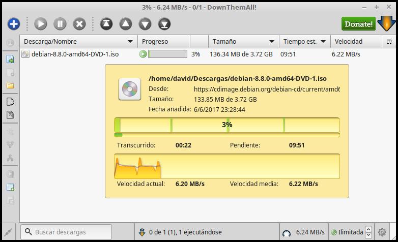 Acelera tus descargas en Firefox con DownThemAll!!