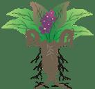 Logotipo de Dragora. es algo así como un planta ¿mandragora?