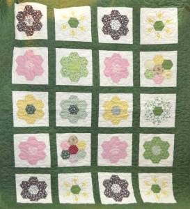 One of the group's completed quilts.