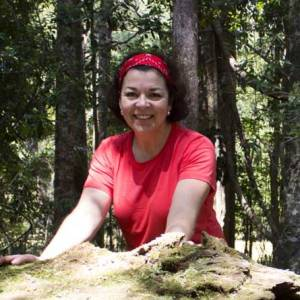 """Joanne Mardjetko, who was injured by a falling tree near Marriner's Falls, has great respect for trees and loves the bush but believes """"sometimes nature is best left alone""""."""