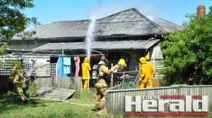 Firefighters from Irrewarra, Colac, Beeac, Yeo, Birregurra and Warrion battled a house fire at Irrewarra. Police and ambulance officers also attended the blaze.