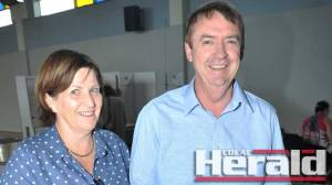 Member for Polwarth Terry Mulder and his wife Sue vote during the state election. Mr Mulder has won a fifth term as state MP.