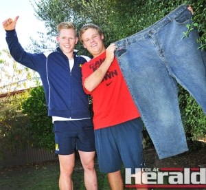 Colac fitness coach Dylan Flanigan helped Elliminyt's Nathan Gray lose 60 kilograms in nine months through a strict diet and fitness program.