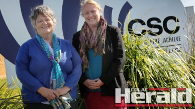 Jackie Dullard, left, has become Colac Secondary College's new acting principal while Rhonda Browne has become the school's new acting assistant principal.