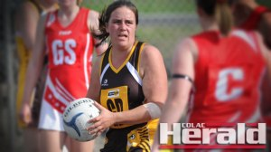 Apollo Bay netballer Claire Smith, pictured, says the Hawks remain positive despite their winless 2015 campaign.