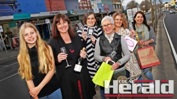 Colac retailers Elise Prigg, Paula Brown, Melanesia Carson, Jenny Harty, Kelly Guthrie and Cressi Golding will be offering bargains for shoppers at late-night shopping event The Strip tomorrow night.