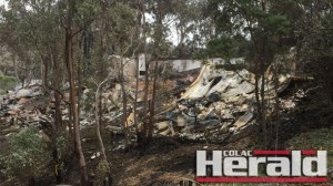 A Separation Creek home after the Otways' Christmas Day blaze.