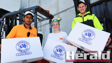 Australian Lamb Company's Inayat Foladi, Tahneila Wheadon and Zach Jamieson started work at the Colac company within a 12-month period which has seen a dramatic drop in Colac's jobless rate.