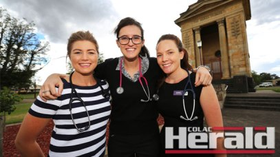 From left, Alice Torpy, Vanessa Roberts and Annie McClennon are looking forward to embracing Colac's rural medical scene during their year-long placement within the community.