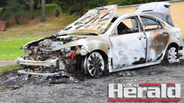 Police are investigating the burning of a car near Lake Colac Rowing Club yesterday morning.