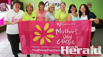 Mother's Day Classic Colac participants, from left, Janice Johns, Raelene Johnson, Carolyn McVilly, Robyn Barrand, Felicity Johnson, Judy Harrowfield and Cindy Smith are getting ready for the four-kilometre walk this Sunday. The breast cancer fundraiser is at Elliminyt Recreation Reserve.