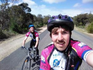 Colac's Ben Cardinal and Daniel Madden are riding from Adelaide to Geelong to raise money for children's charity, Kids Plus Foundation.