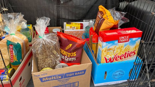 GENEROUS GIVING: Project Feed Me Apollo Bay has sent its first round of food supply packages this week, to community members struggling during the COVID-19 crisis.