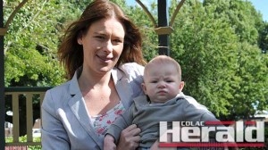 Colac's Sharna Warrender with five-month-old son Harley Summers.