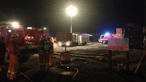 Colac and district firefighters used breathing apparatus to fight a fire in a shed at AKD Irrewarra.